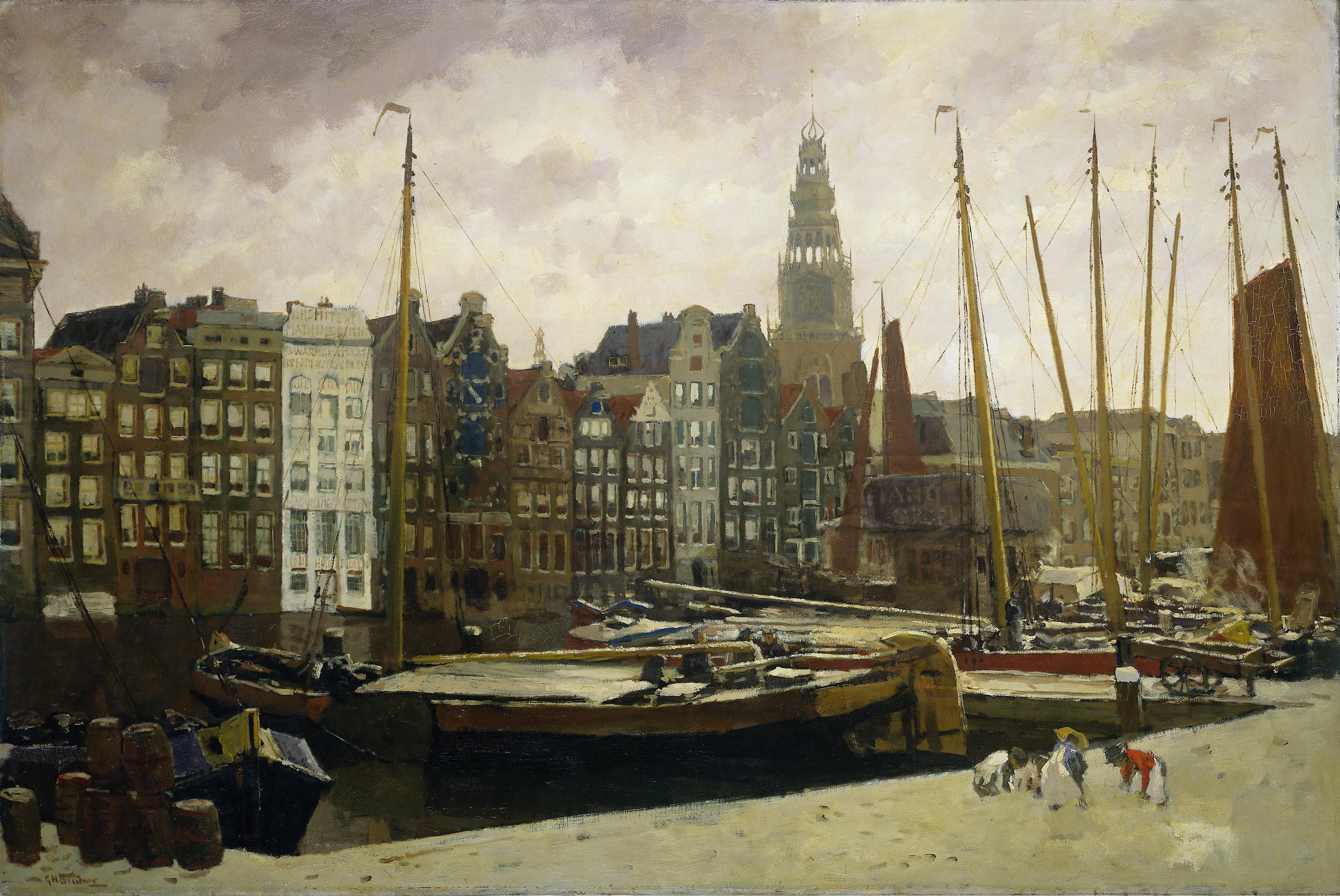 George_Hendrik_Breitner_-_Het_Damrak_te_Amsterdam