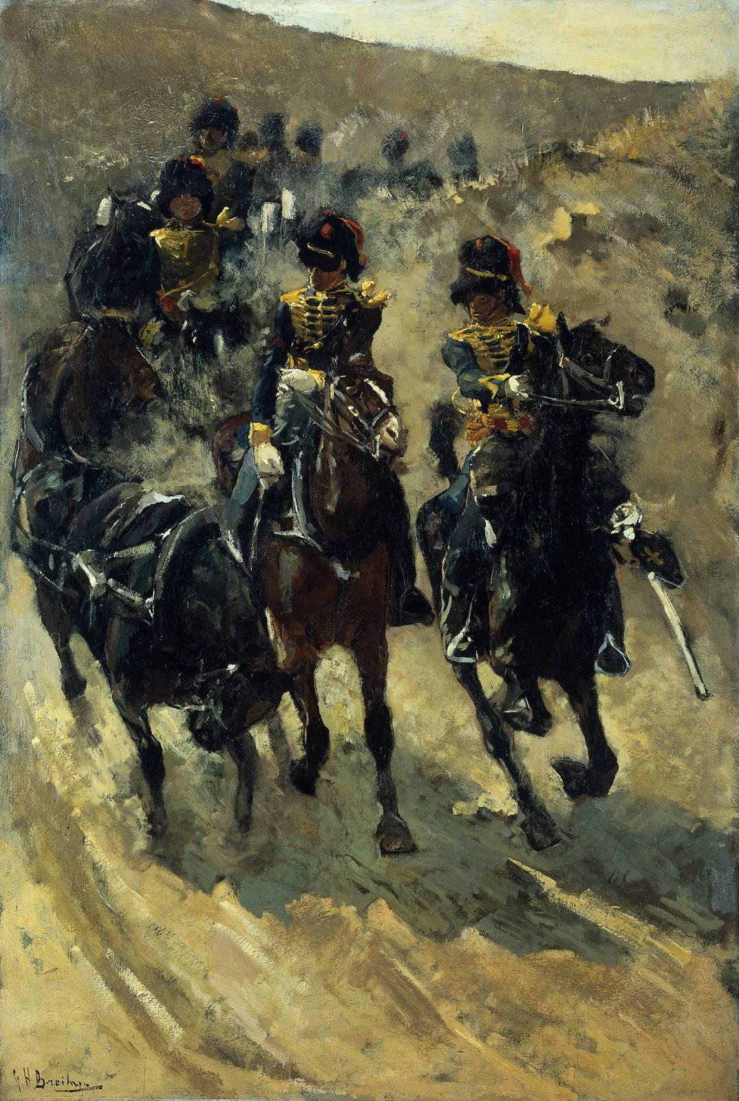 George_Hendrik_Breitner_-_Rijdende_Artillerie