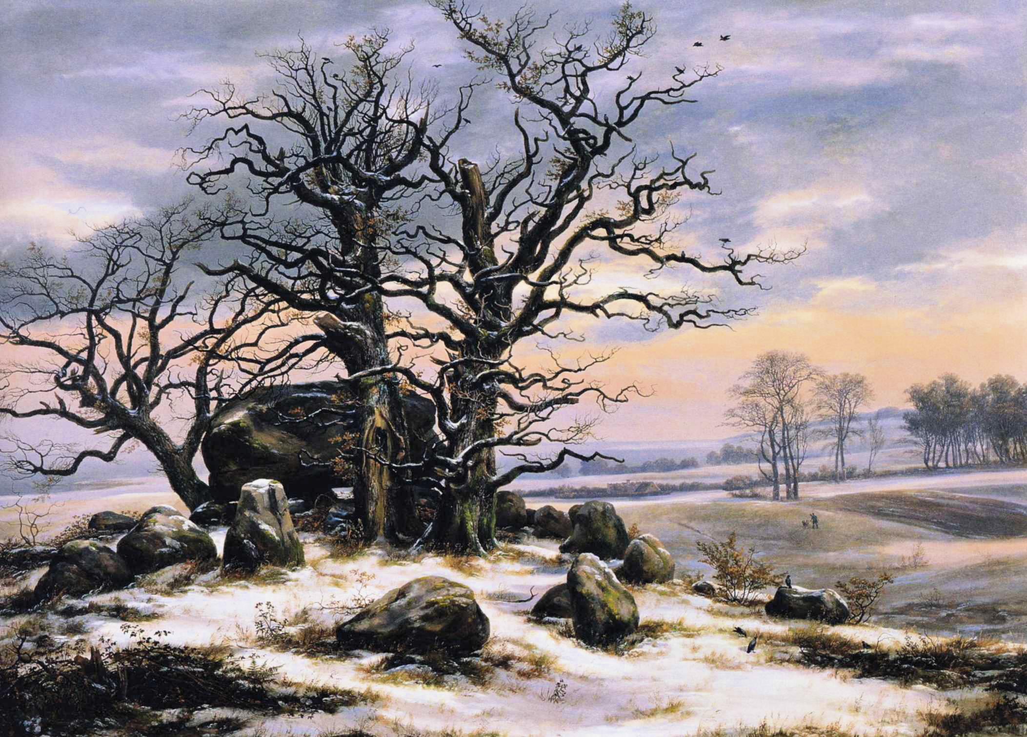 Johan_Christian_Dahl_-_Megalith_Grave_in_Winter