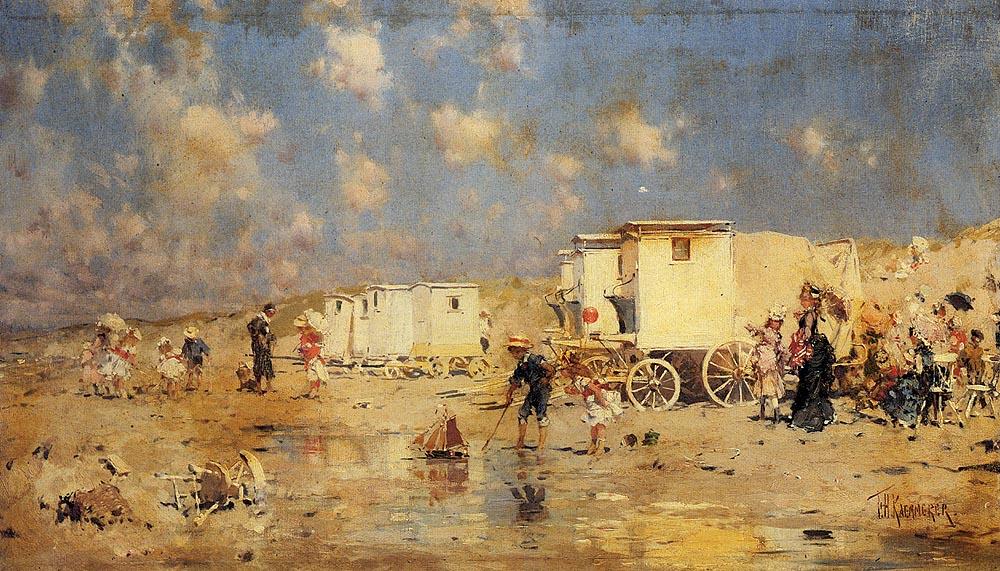 Kaemmerer_Frederick_Hendrik_The_Beach_At_Scheveningen_Holland