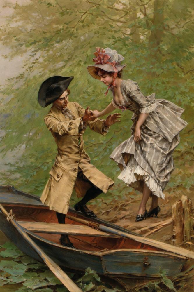 Kaemmerer_Frederik_Hendrik_The_Boating_Party_Oil_on_Canvas