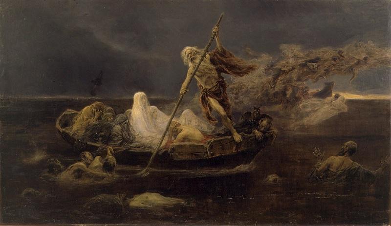 La Laguna Estigia The River Styx 1887 by Felix Resurreccion Hidalgo