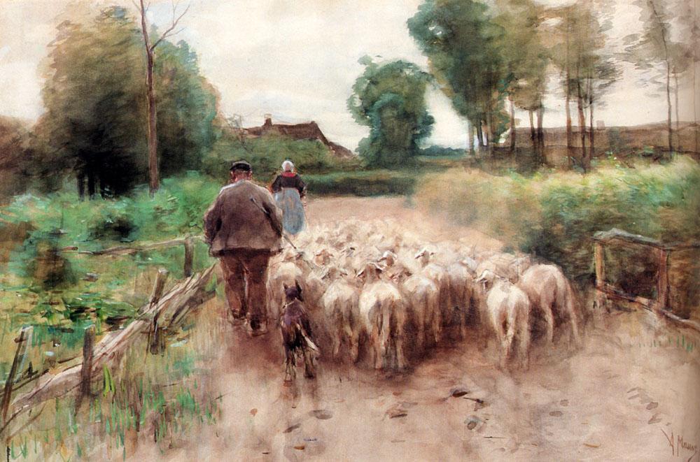 Mauve_Anton_Bringing_Home_The_Flock