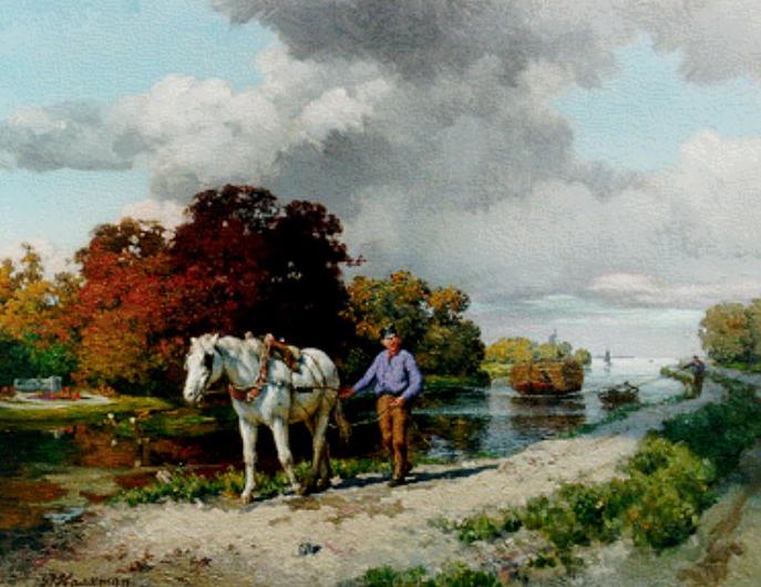 Op_het_jaagpad_Pieter_Haaxman_(1854-1937)