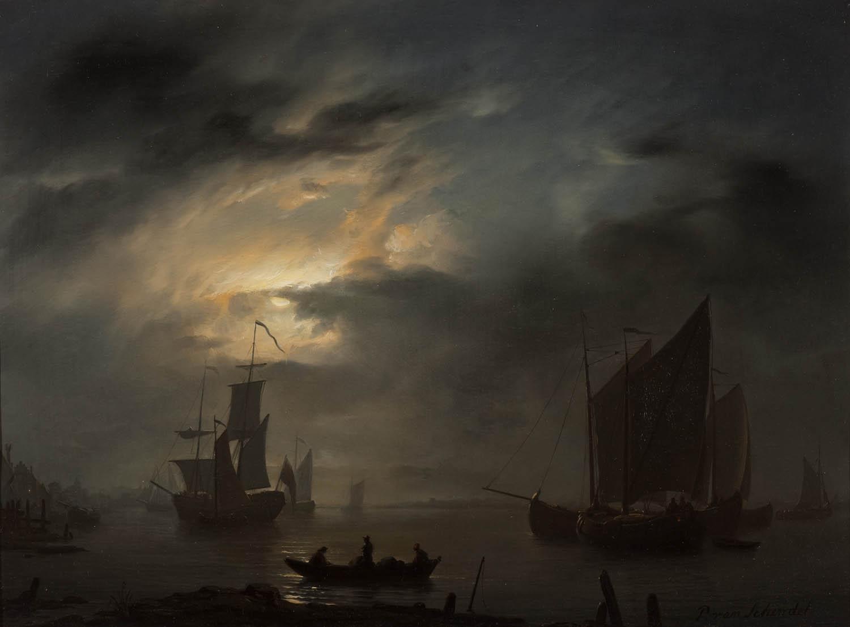 Petrus_van_Schendel_-_Nachtelijke_marine