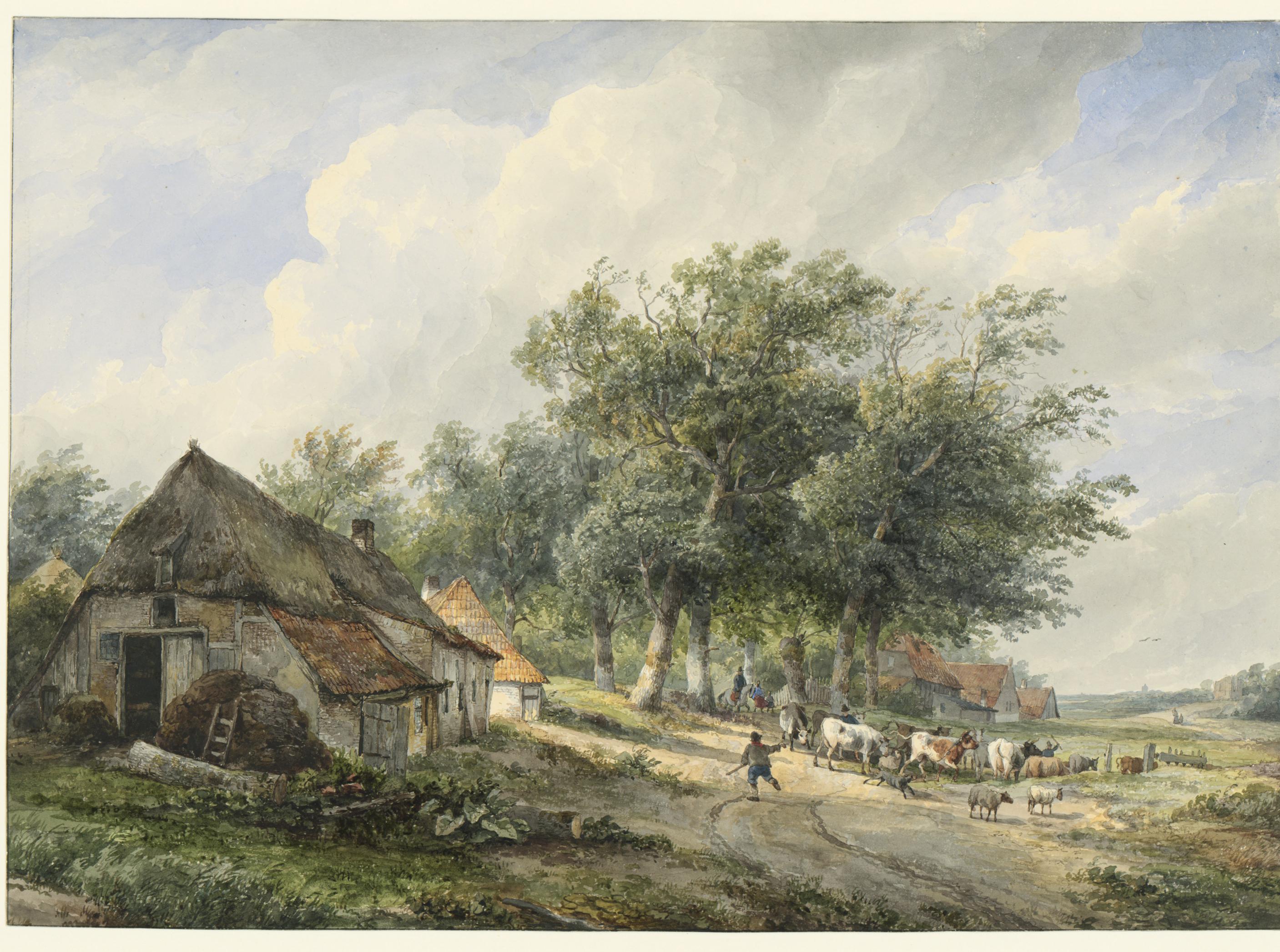 Wijnand_Nuijen_-_Landschap_met_boerderijen_en_vee