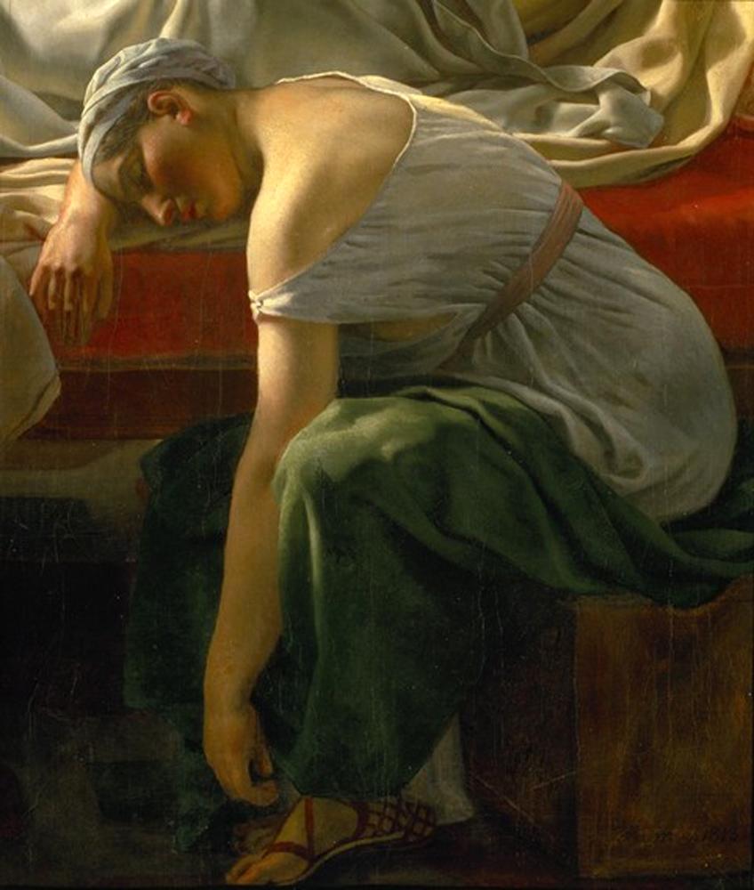 christoffer_wilhelm_eckersberg_4_a_sleeping_woman_in_antique_costume