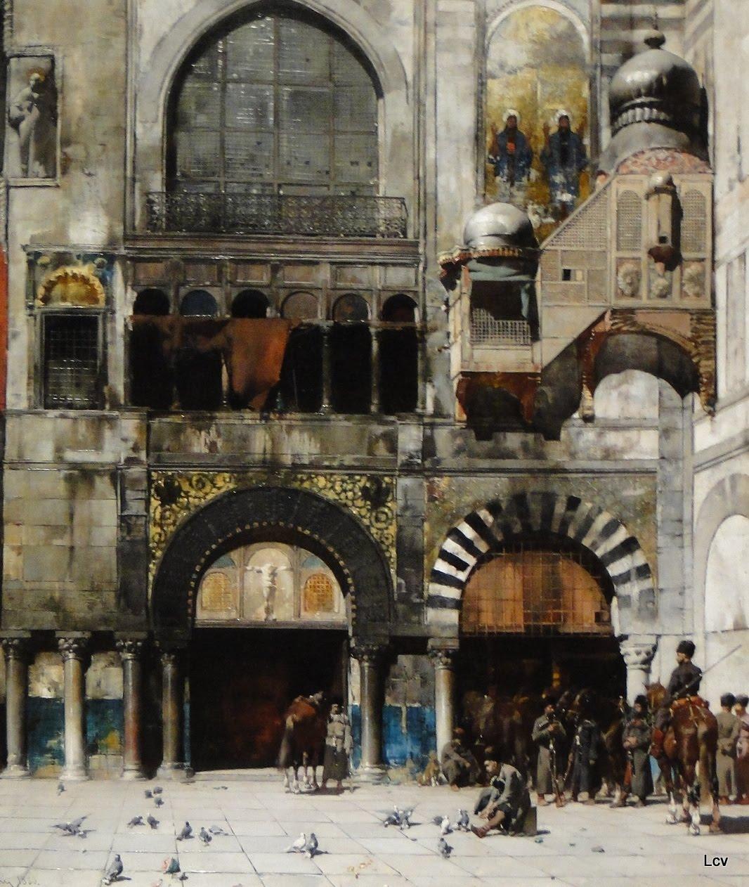 circassian cavalry awaiting their commanding officer Pasini