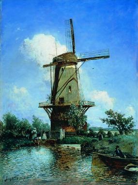 jongkind_windmill_delft