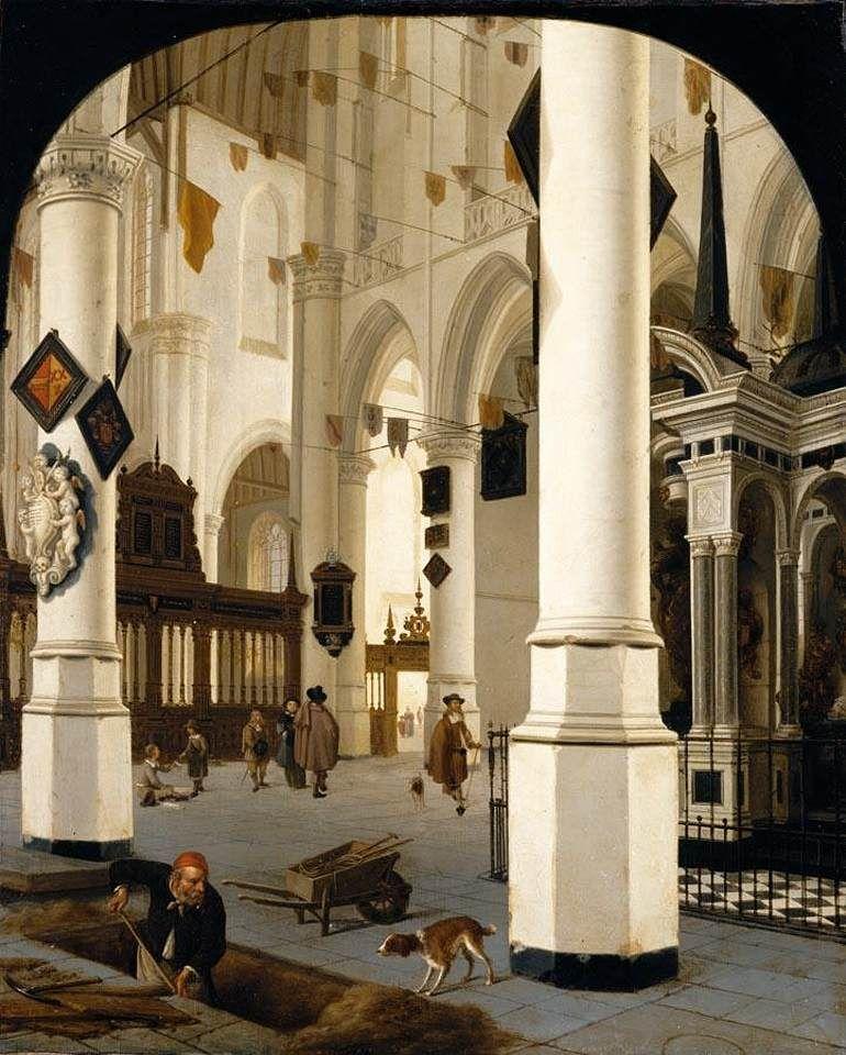 the-interior-of-the-nieuwe-kerk- hendrick-van-vliet_1665