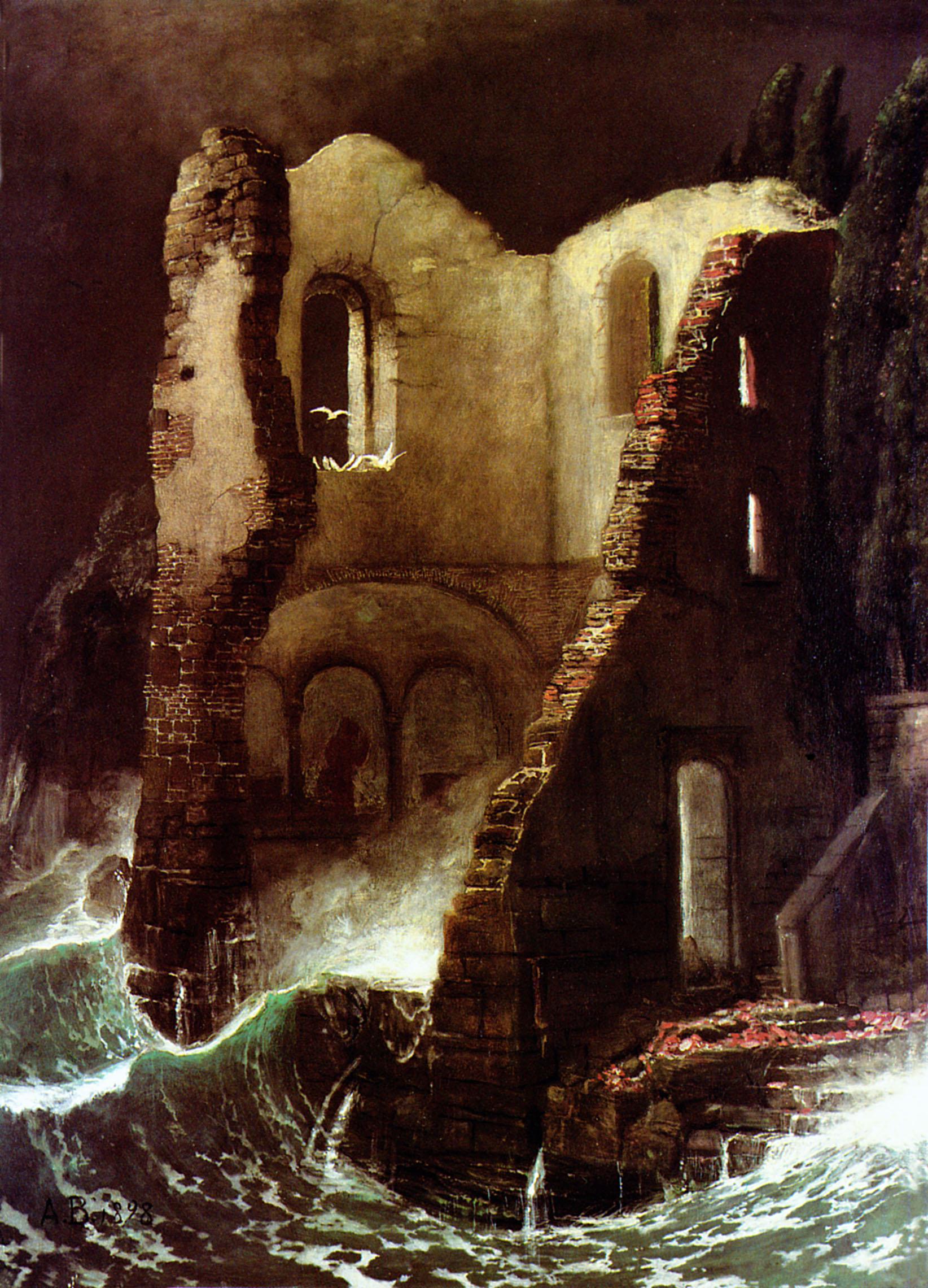 Die Kapelle (1898) oil on canvas 94.5 x 70.5 cm