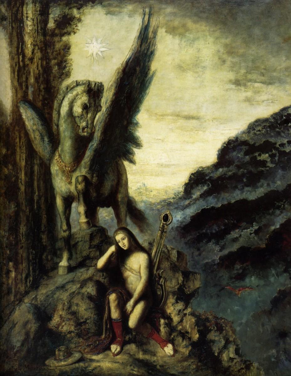 1870-1890 Gustave Moreau, Le poete voyageur,  The poet traveller