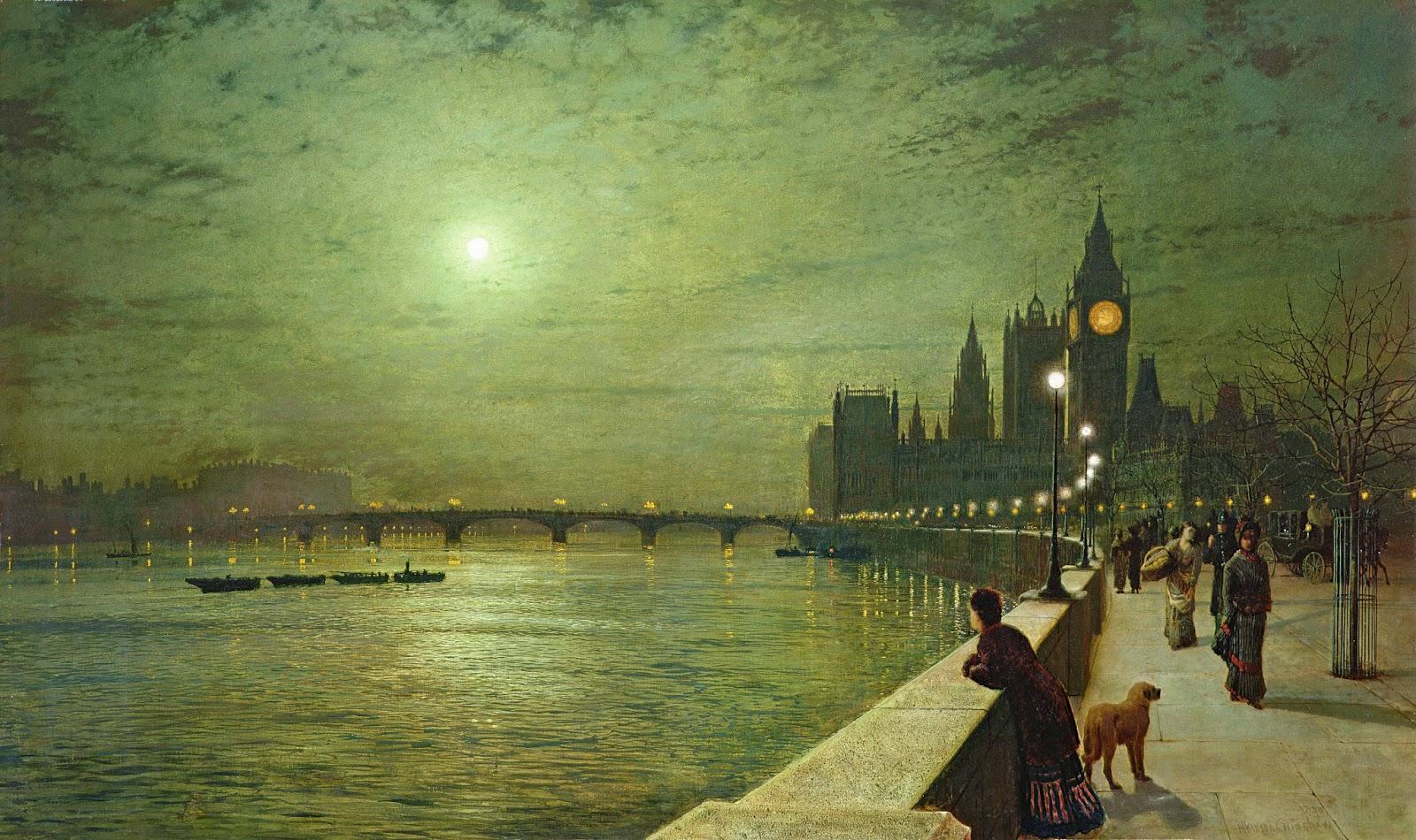 night_harbour_John Atkinson Grimshaw