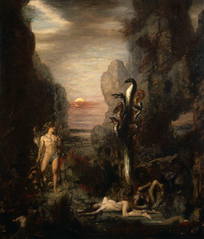 Gustave Moreau Hercules and the Lernaean Hydra 1875-6