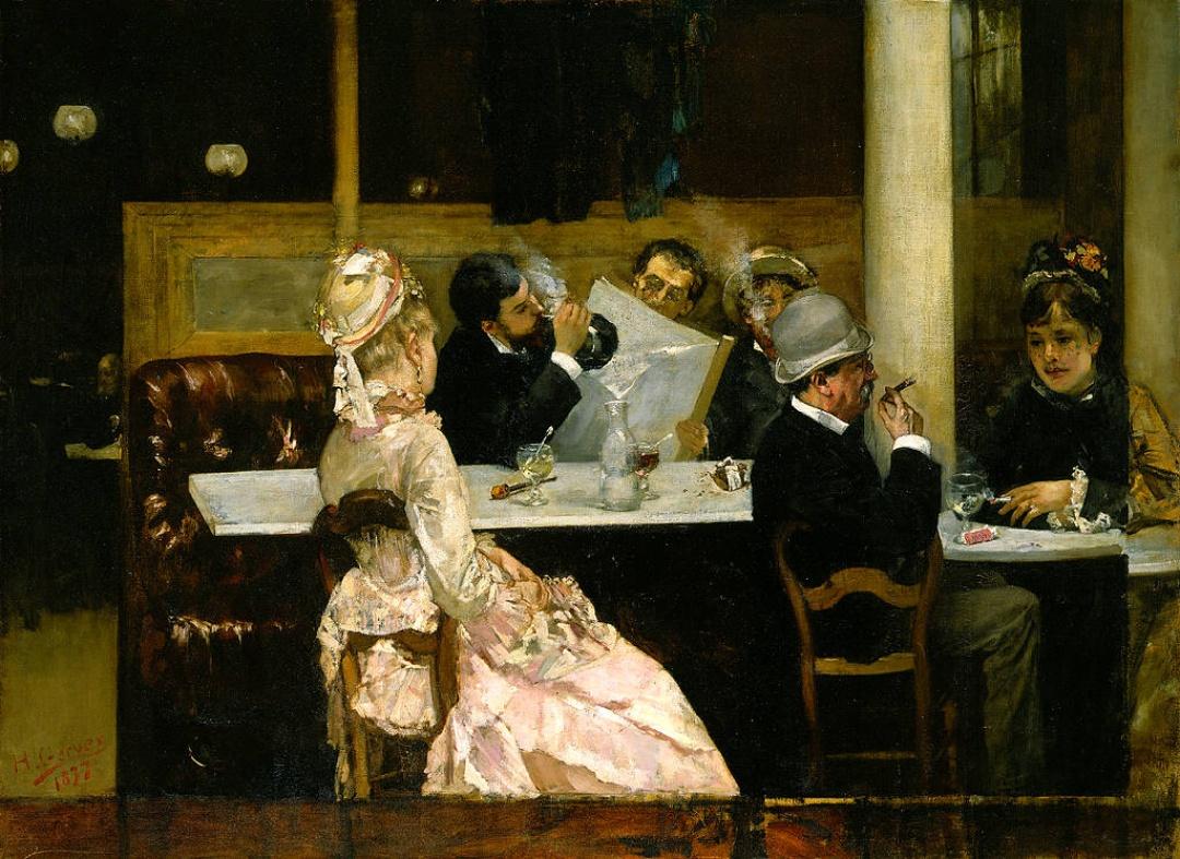 Henri-Gervex-Cafe-Scene-in-Paris-1877