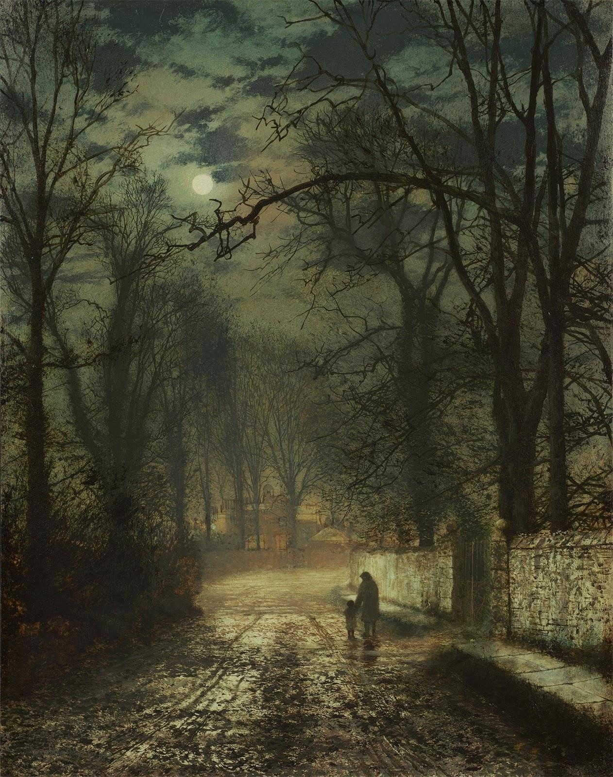 John Atkinson Grimshaw_moonlit_night