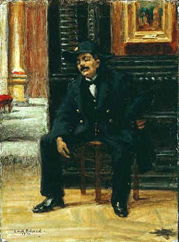 beroud, a guard at the louvre 1912
