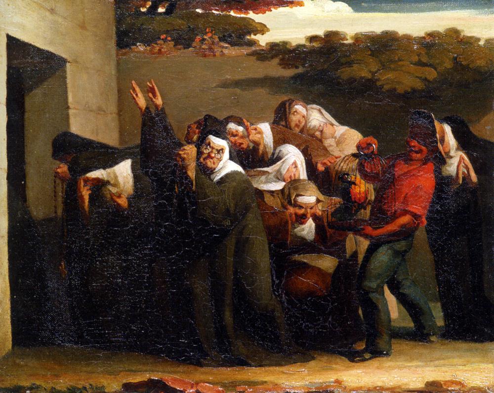 the-nun-s-parrot-1840_millet