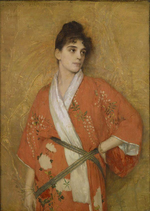 Courtois_Young_Woman_in_Kimono_Paris_1890