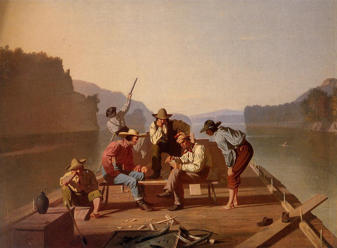 George Caleb Bingham - Raftsmen Playing Cards