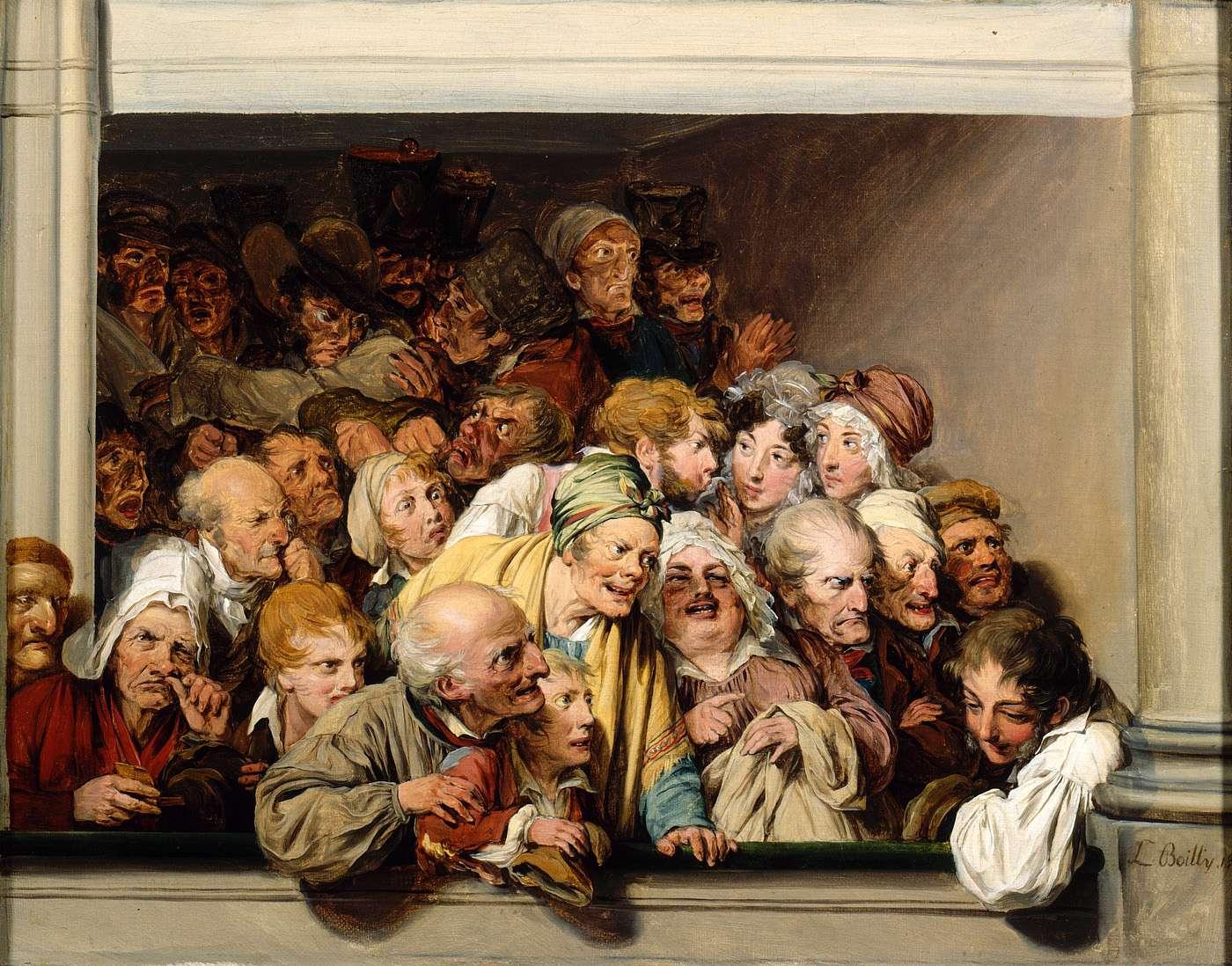 boilly Une loge, un jour de spectacle gratuit 1830