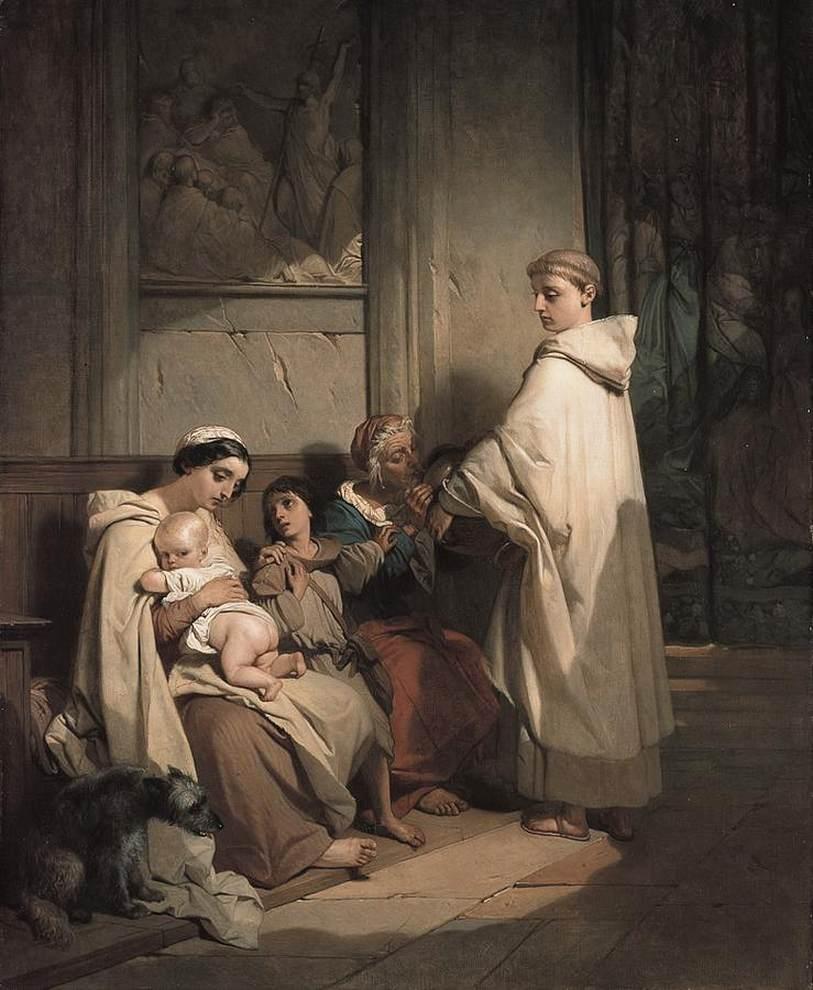 monk_feeding_the_poor_gallait