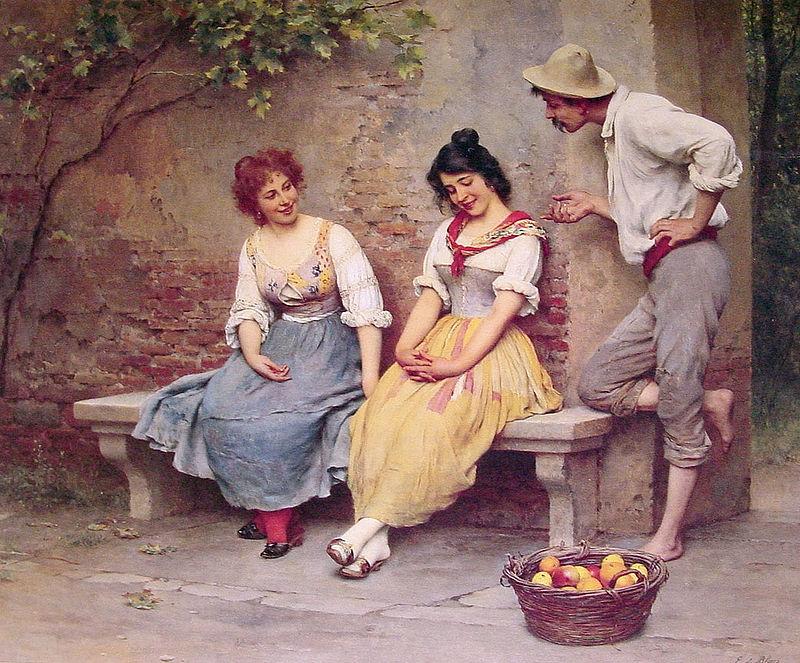 Eugen_de_Blaas_The_Flirtation