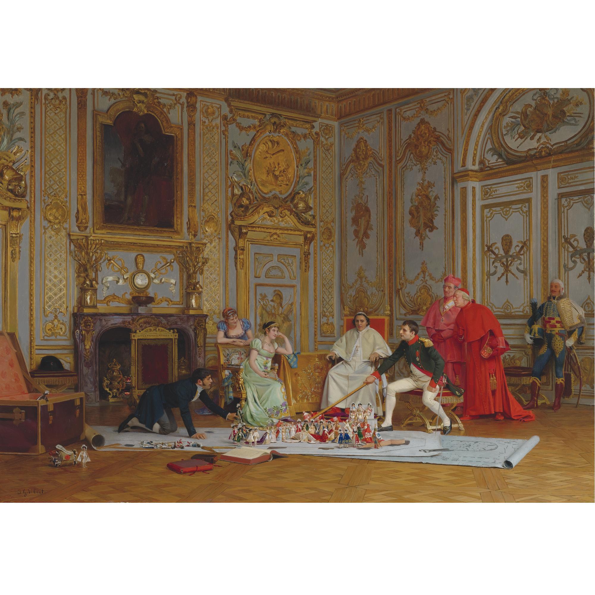 Planning-Napoleons-coronation-Vibert