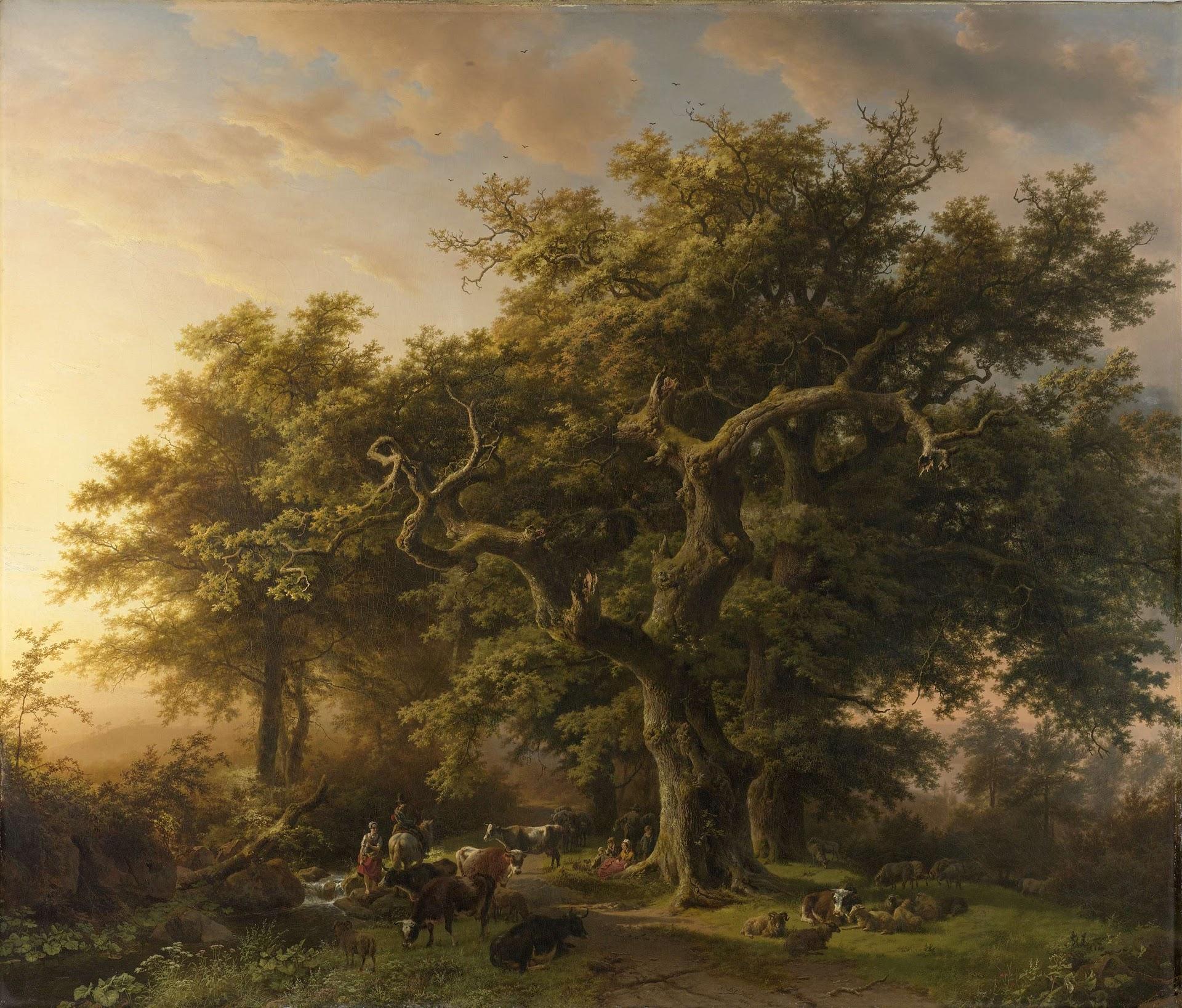 Forest-scene-1848_koekkoek