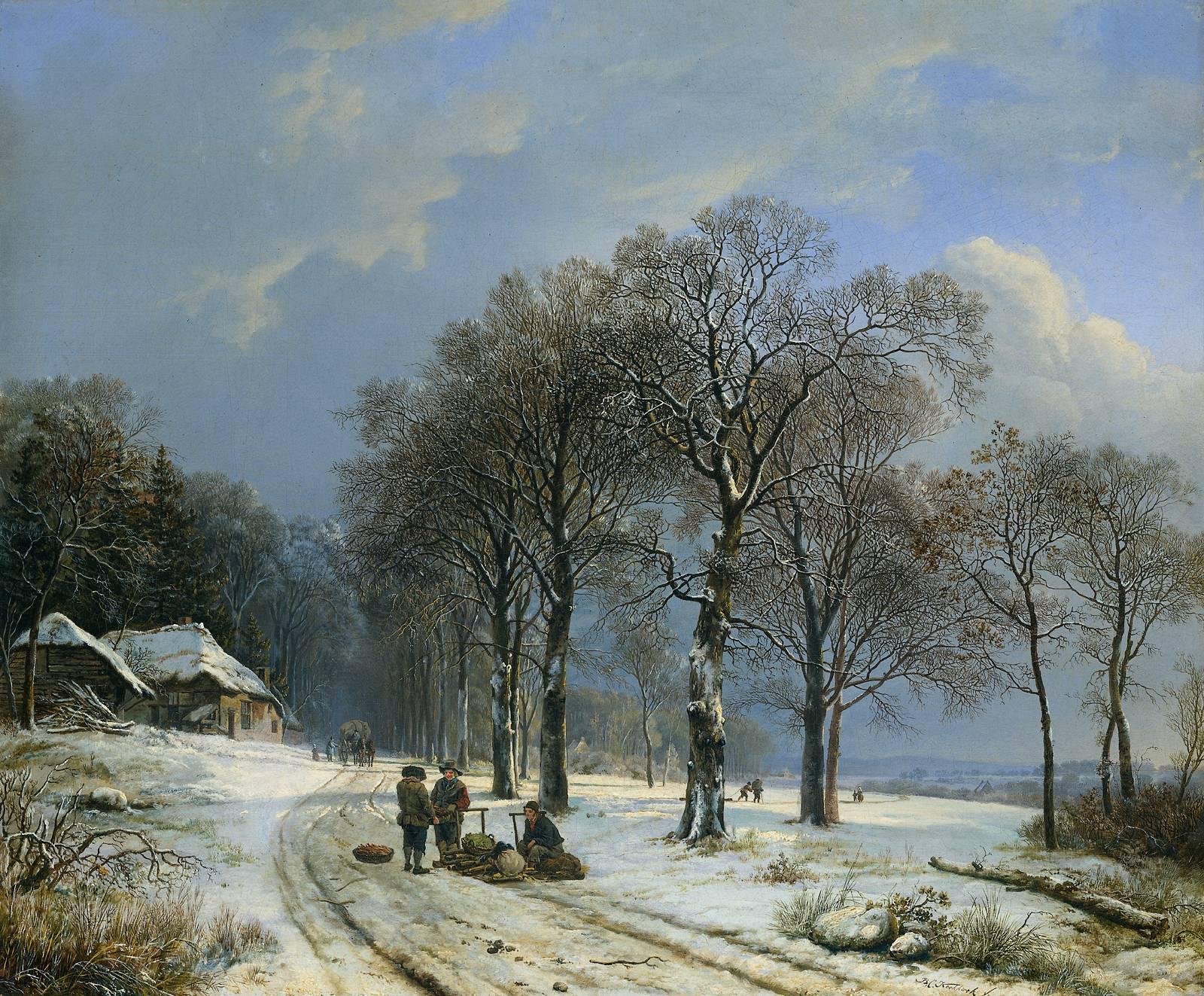 koekkoek_1838_snowscape