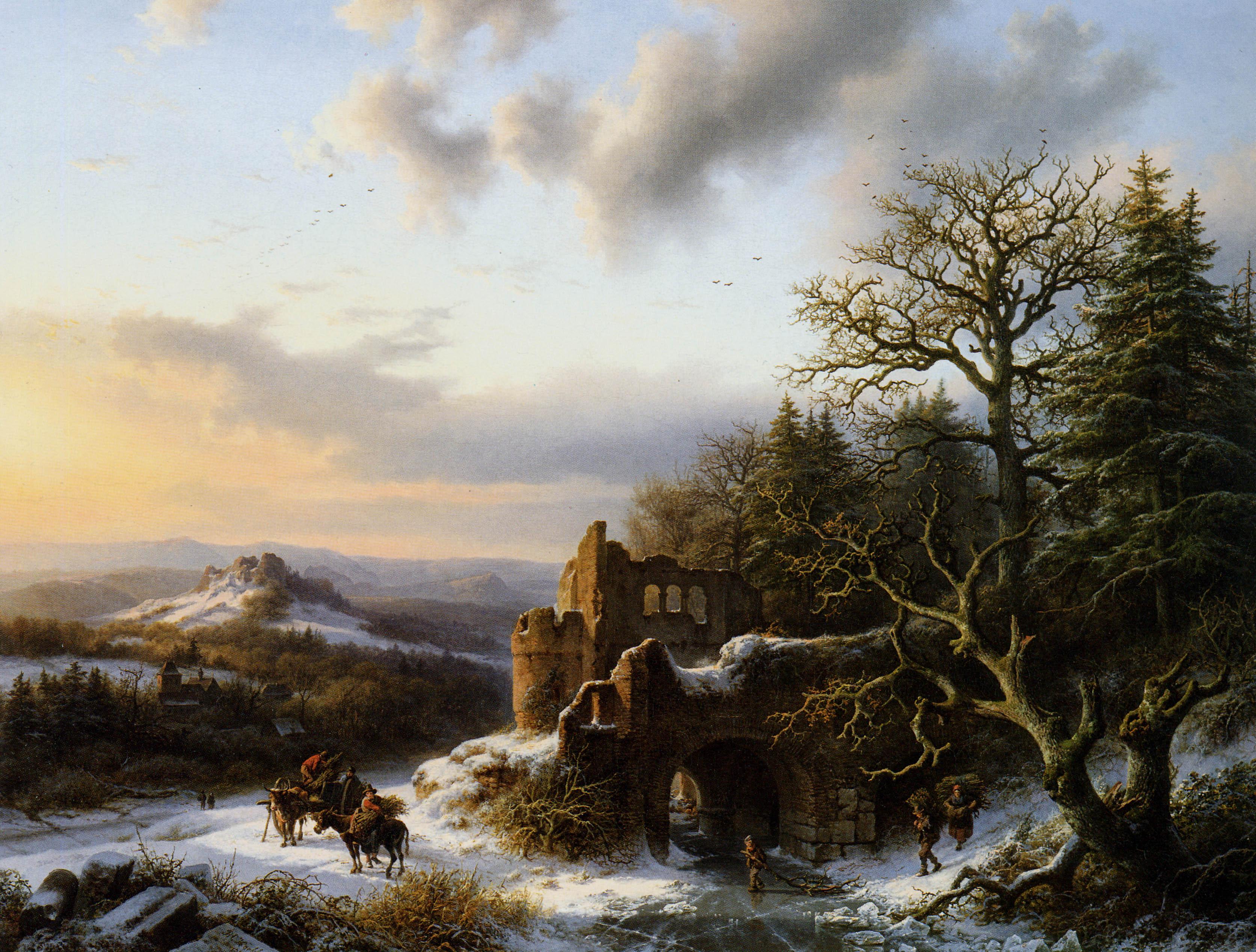 koekkoek_winter_landscape_with_ruin