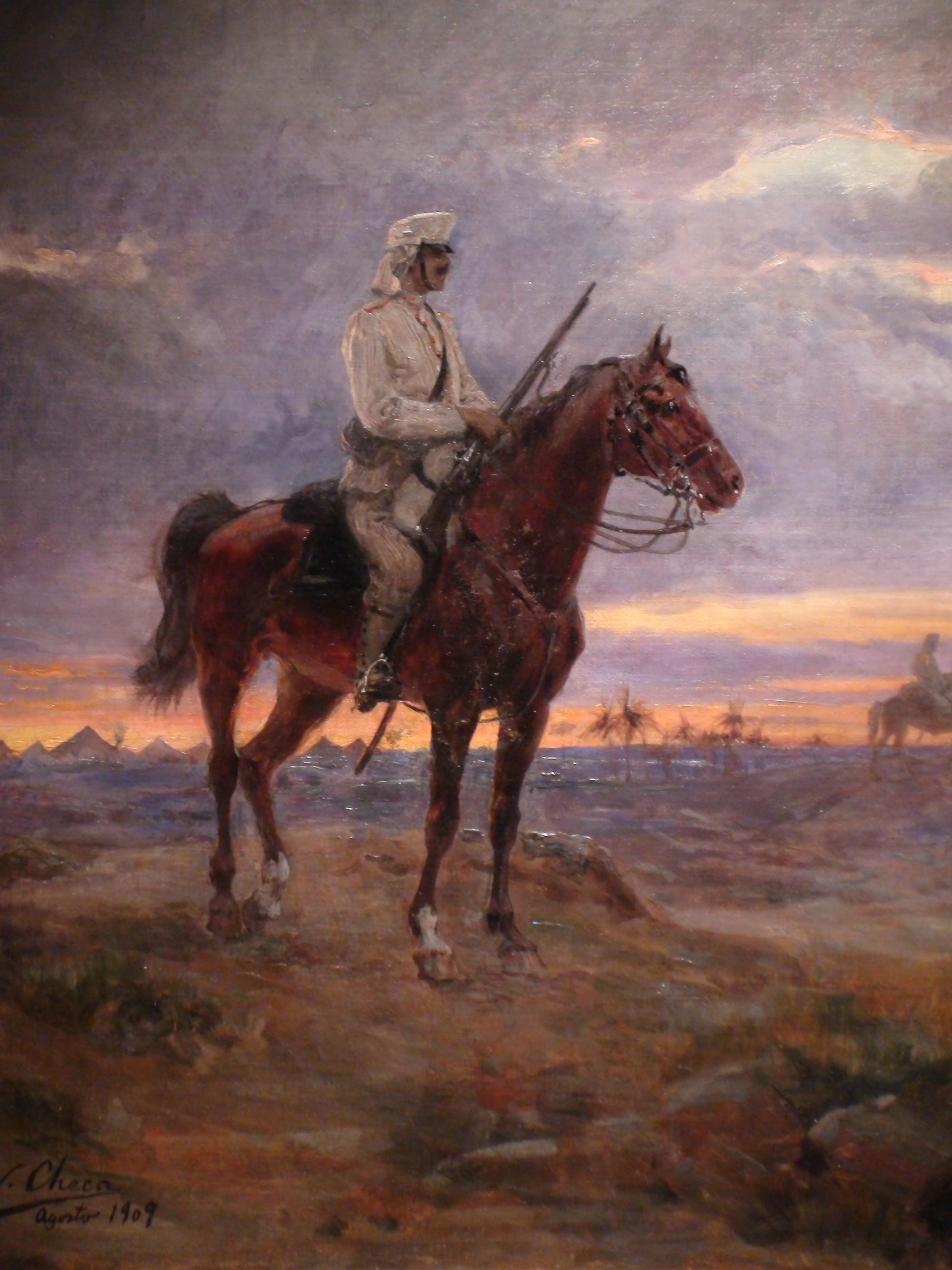 Centinela_a_caballo_-_Ulpiano_Checa