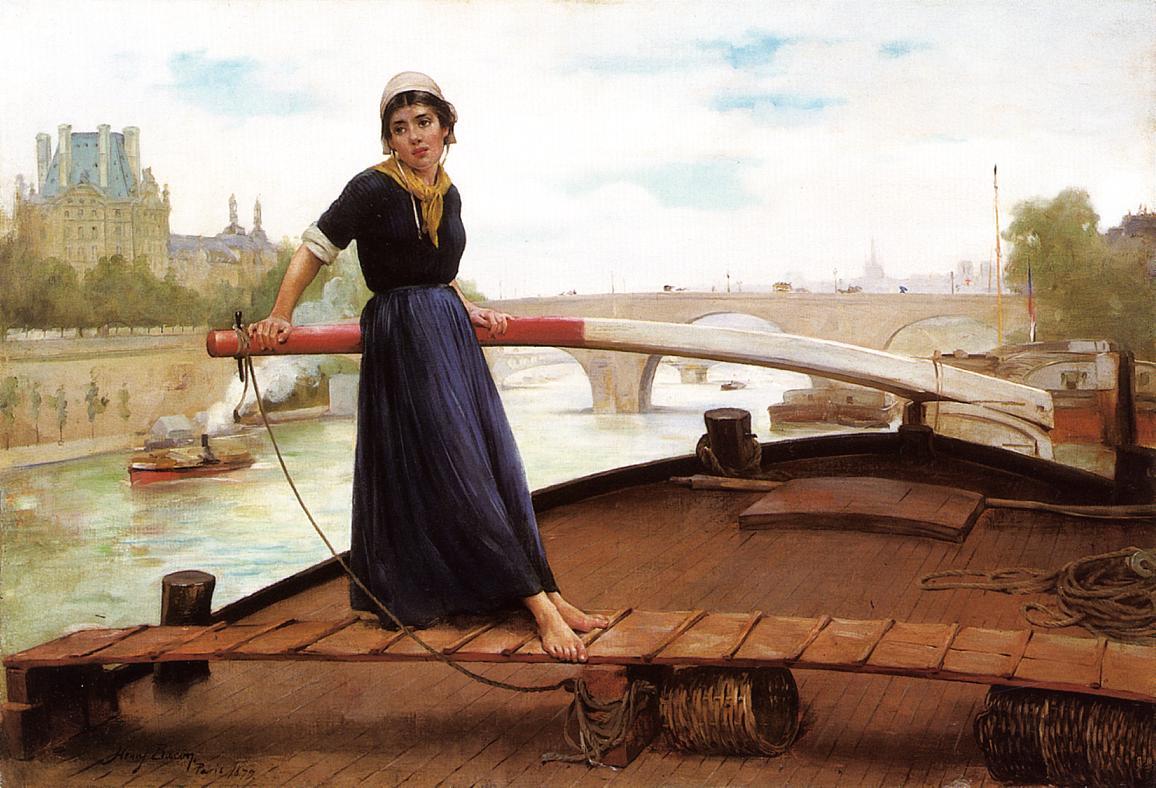 Henry Bacon - girl-boat